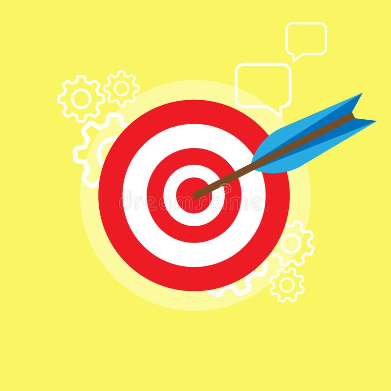 Mission vision business concept corporate. Company statement success team icon. Vector symbol leadership idea work. Customer integ. Rity motivation design royalty free illustration