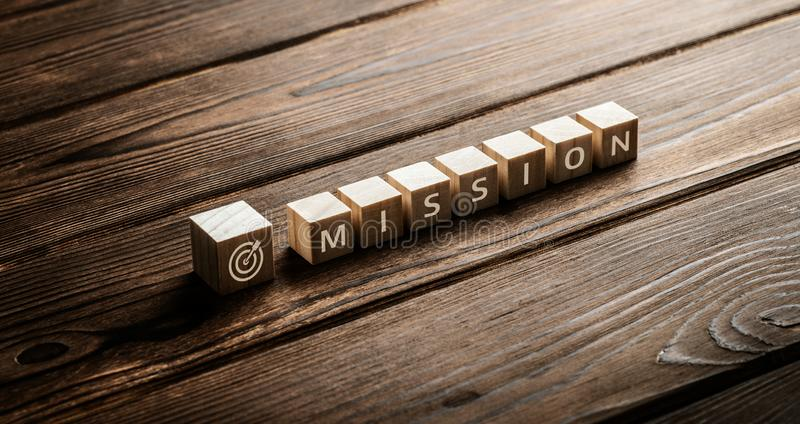 Mission Vision Strategy Company Goals Business Concept stock photos