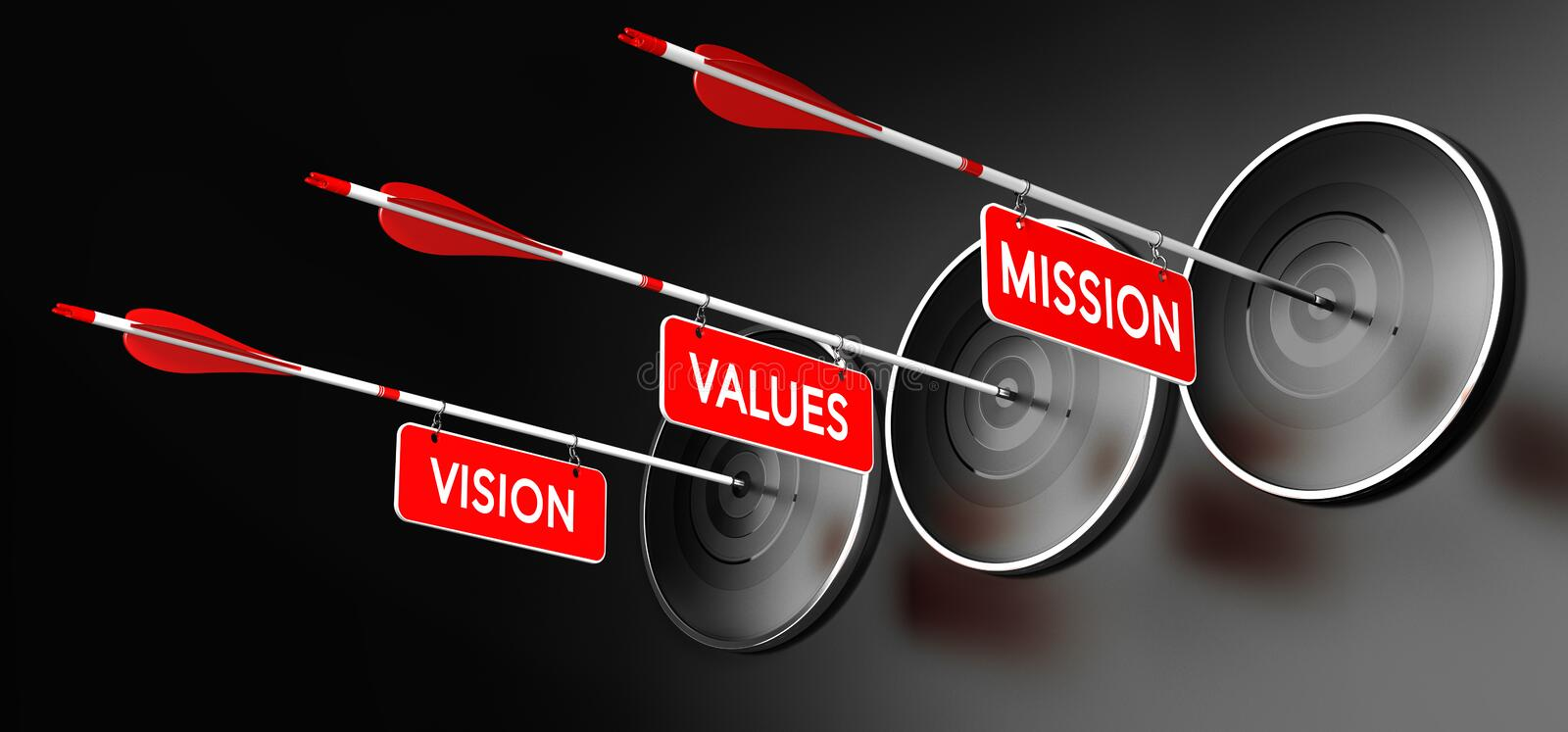Mission, Vision and Values Statements vector illustration