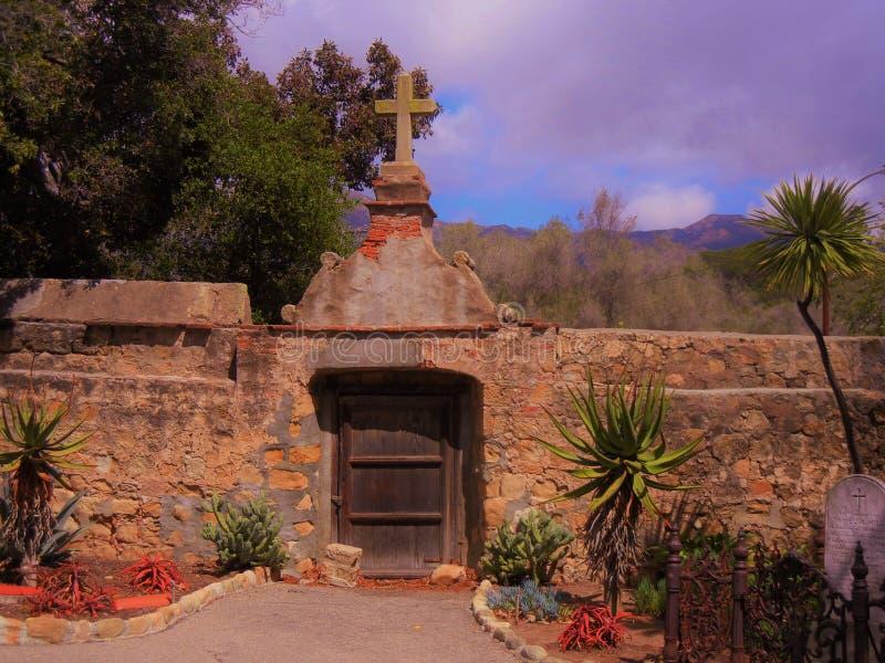 Mission Wall. The Mission wall in Santa Barbara, California royalty free stock images