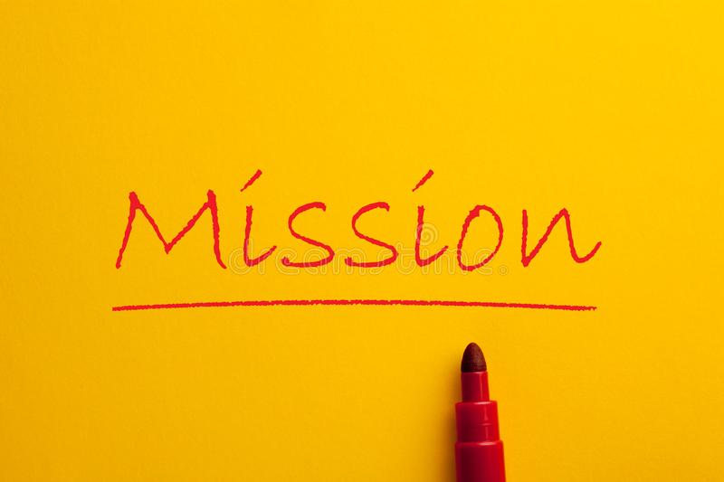 Mission Concept Word royalty free stock photo
