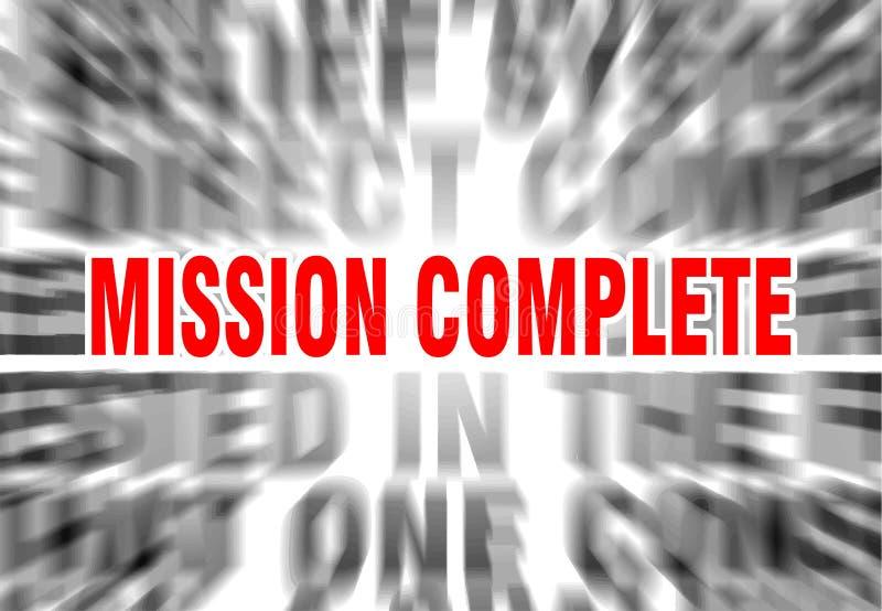 missione completa illustrazione di stock