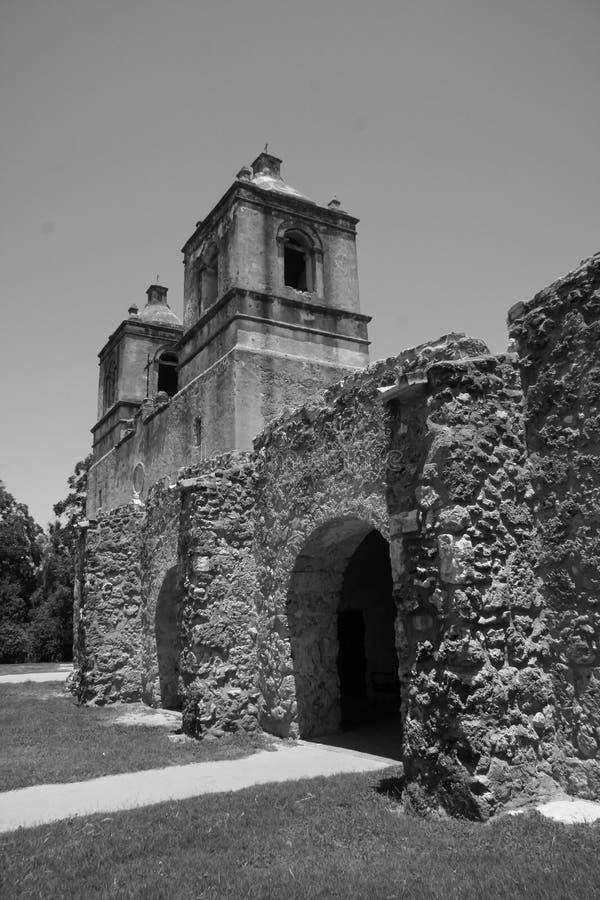 Missione Concepción di vista a San Antonio immagini stock libere da diritti