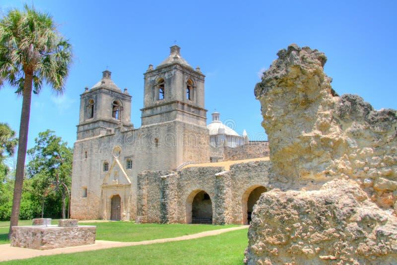 Missione Concepción a San Antonio fotografia stock libera da diritti