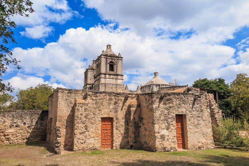 Missione Concepción, San Antonio, il Texas fotografia stock libera da diritti