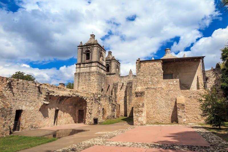 Missione Concepción, San Antonio, il Texas immagine stock