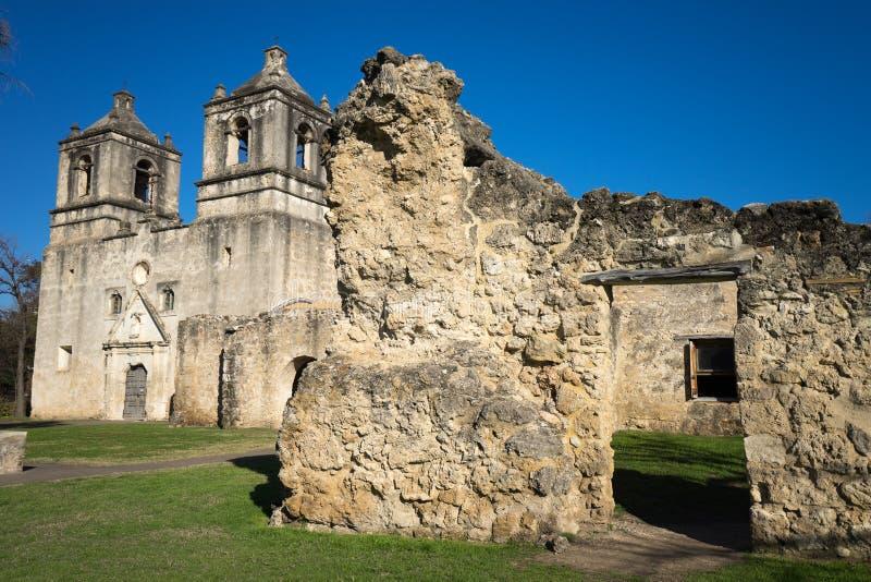 Missione Concepción a San Antonio il Texas fotografia stock libera da diritti