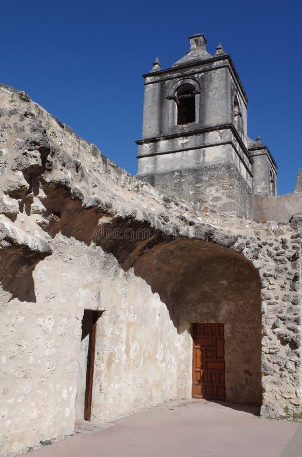 Missione Concepción, San Antonio, il Texas immagini stock libere da diritti