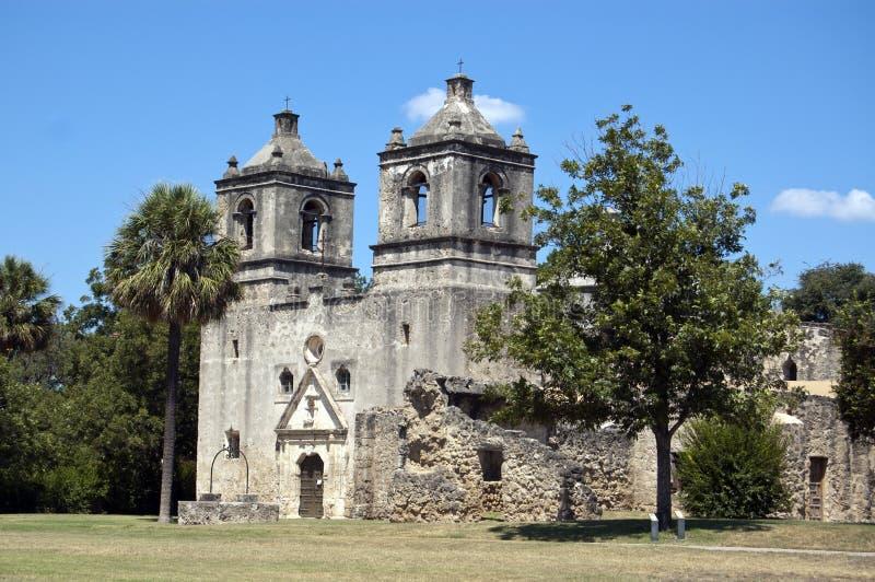 Missione Concepción, San Antonio, il Texas, S.U.A. fotografia stock libera da diritti