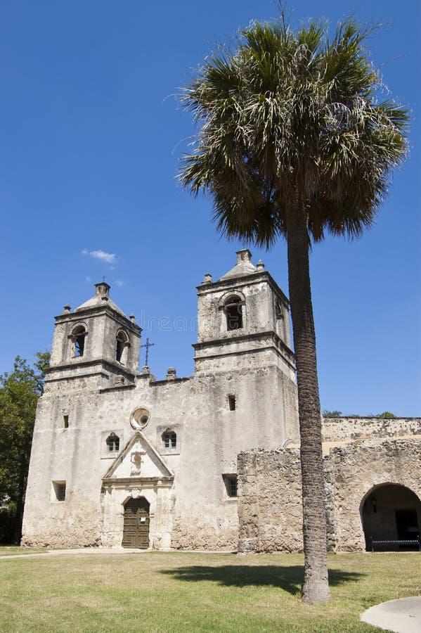 Missione Concepción, San Antonio, il Texas, S.U.A. fotografia stock