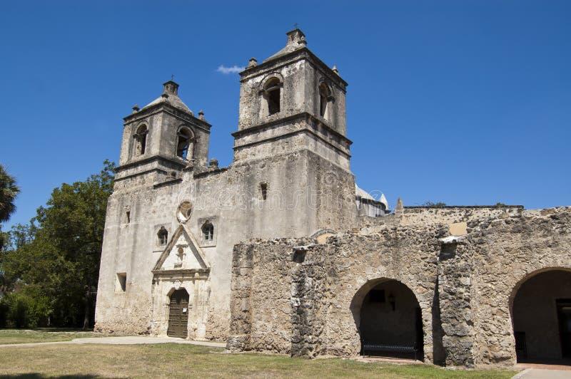 Missione Concepción, San Antonio, il Texas, S.U.A. immagine stock