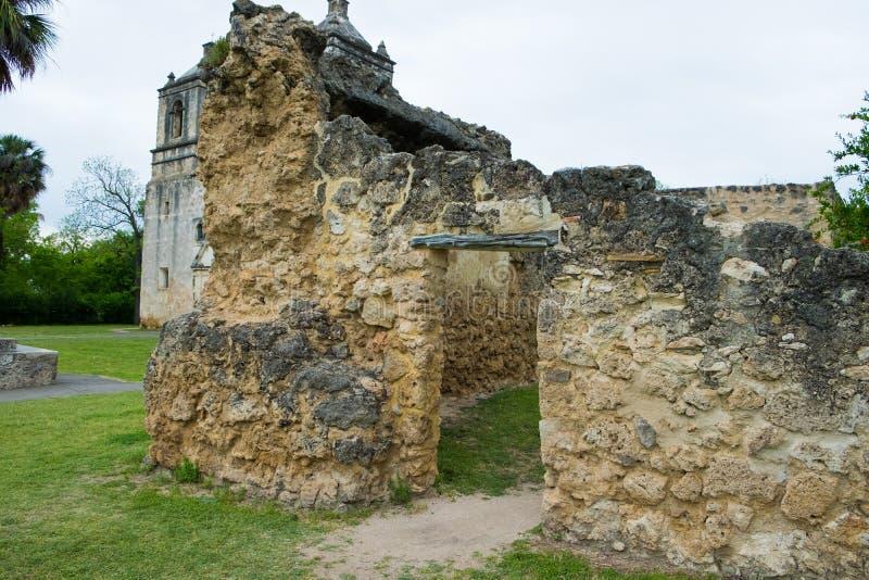 Missione Concepción San Antonio Texas immagine stock libera da diritti