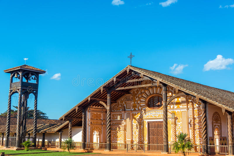 Missione della gesuita in Concepción, Bolivia fotografia stock