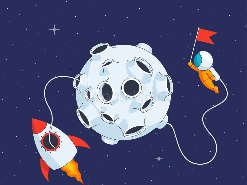 Missione di atterraggio lunare royalty illustrazione gratis