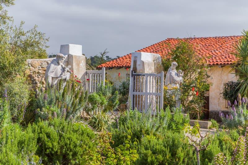 Missione di Carmel in Carmel, California, U.S.A. immagine stock libera da diritti