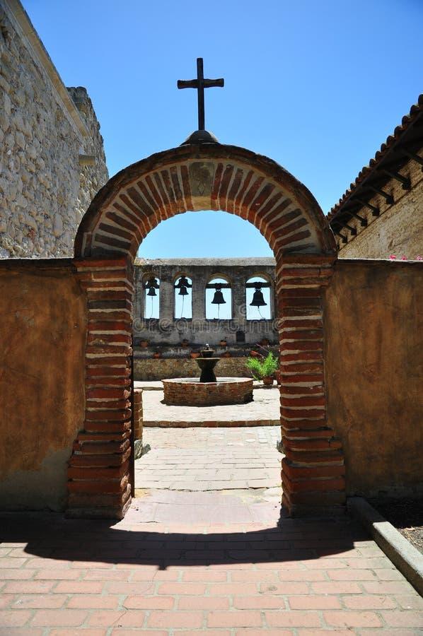 Missione di Lotos di San Juan Capistrano fotografia stock libera da diritti