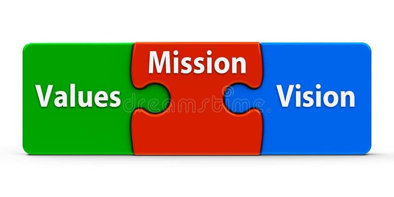 Missione di puzzle di colore illustrazione vettoriale