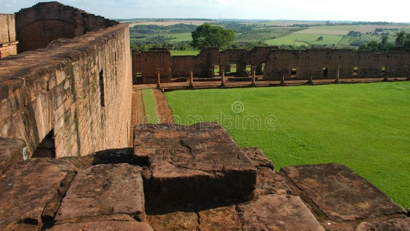 Missione di Tinidad della gesuita, Paraguay fotografia stock
