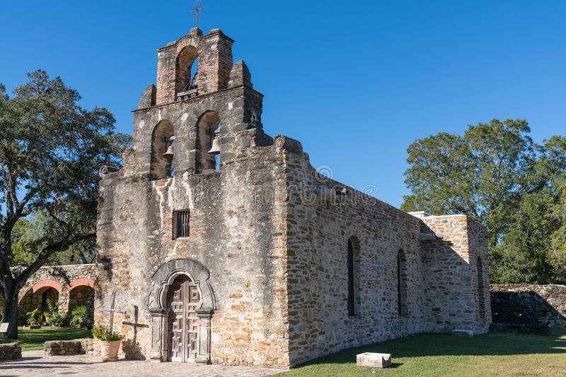 Missione Espada a San Antonio, il Texas fotografia stock libera da diritti