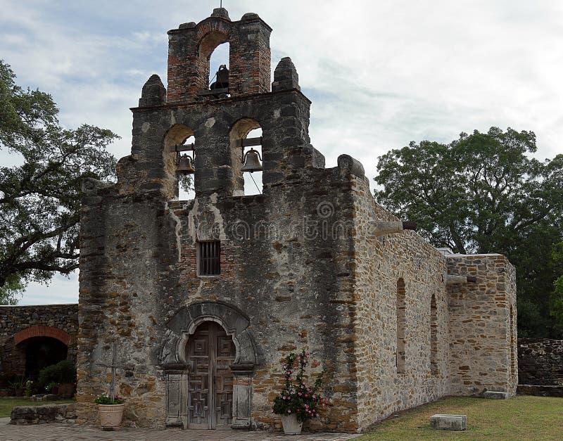 Missione Espada in San Antonio Missions National Historic Park fotografia stock