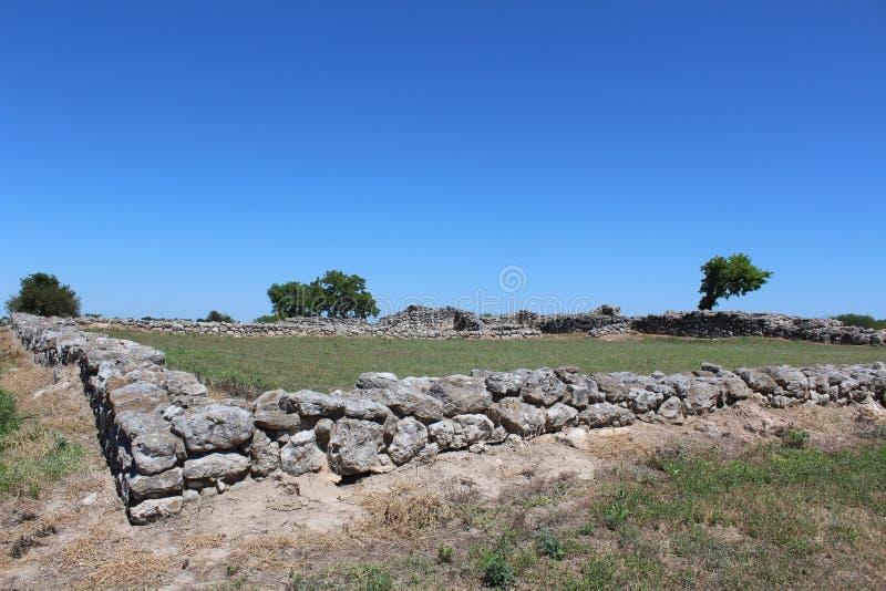 Missione Rosario Ruins Goliad Texas fotografia stock