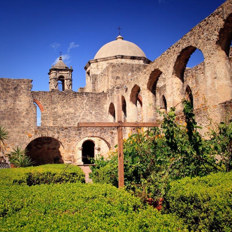 Missione San Juan di San Antonio nel Texas fotografie stock