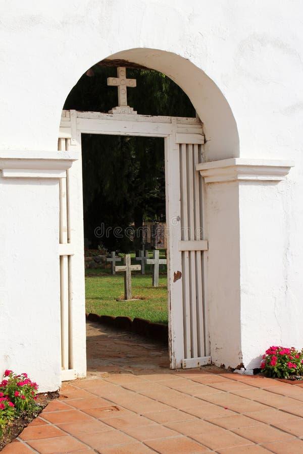Missione San Luis Rey Cemetery fotografia stock