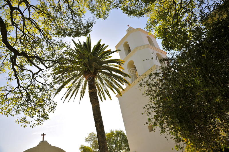 Missione San Luis Rey Church Tower fotografia stock libera da diritti