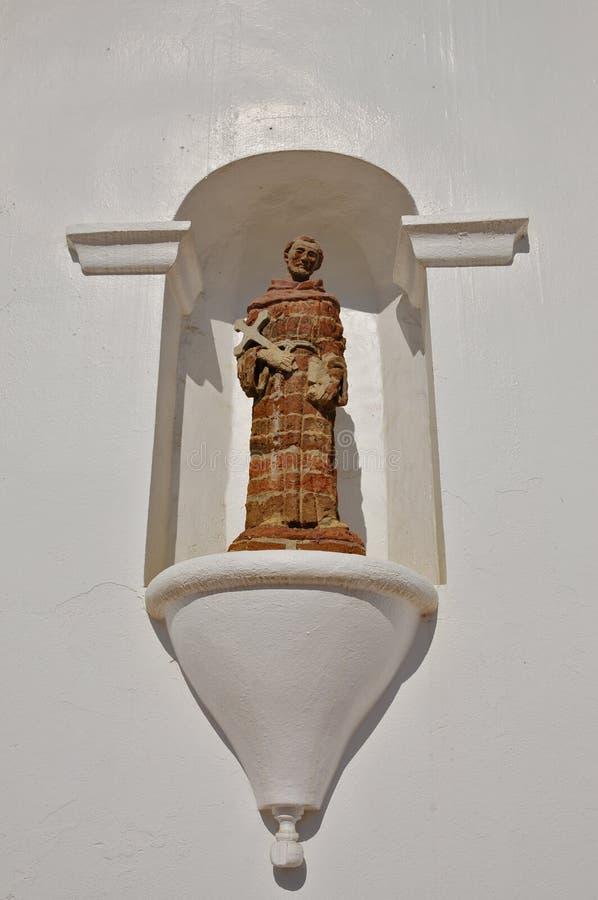 Missione San Luis Rey Friar Statue fotografie stock libere da diritti