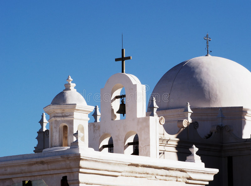 Missione San Xavier Del Bac fotografie stock libere da diritti