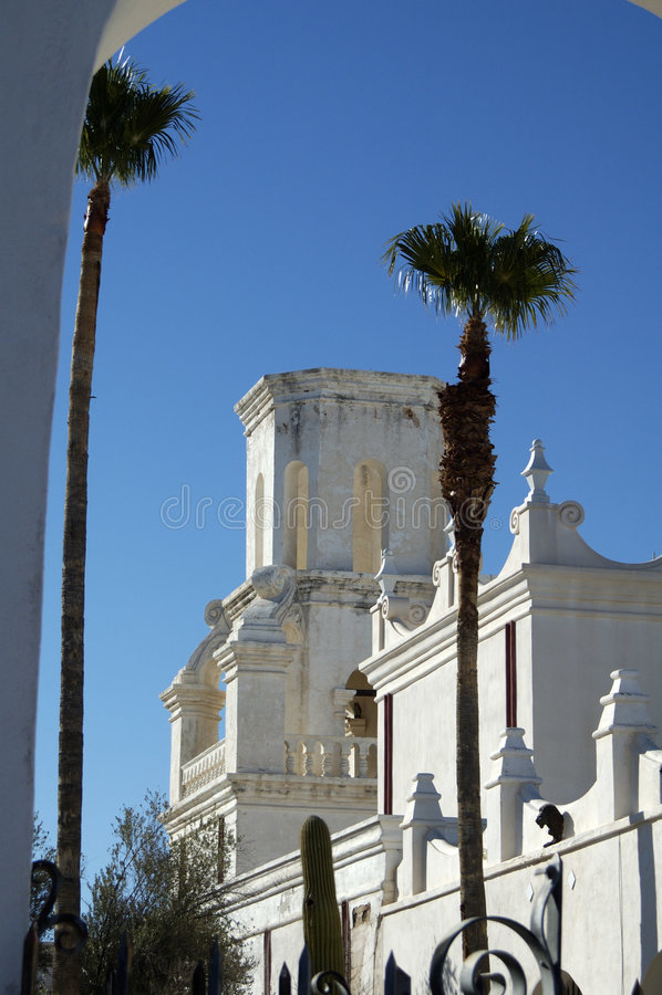 Missione San Xavier Del Bac fotografie stock