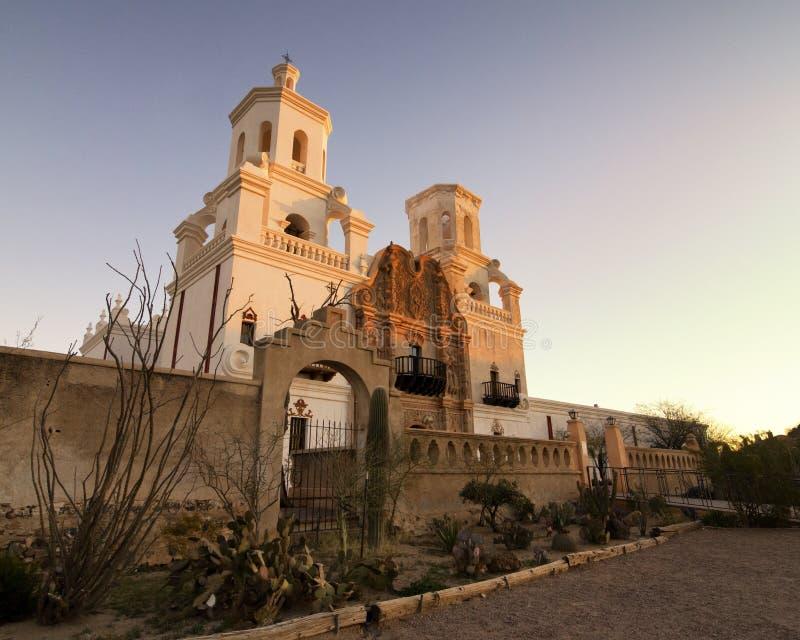 Missione San Xavier del Bac in Tucson, Arizona immagini stock
