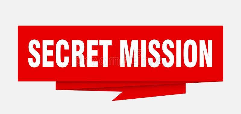 Missione segreta illustrazione vettoriale