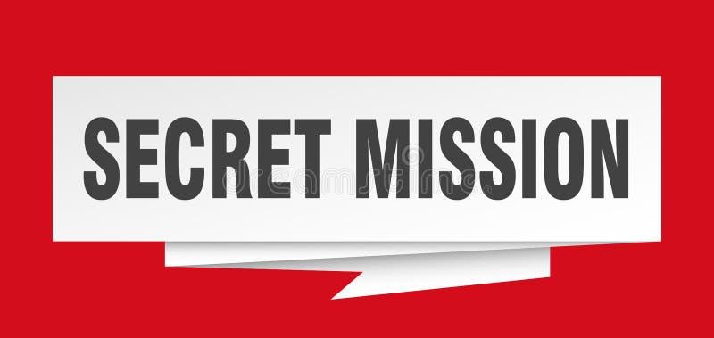Missione segreta illustrazione di stock