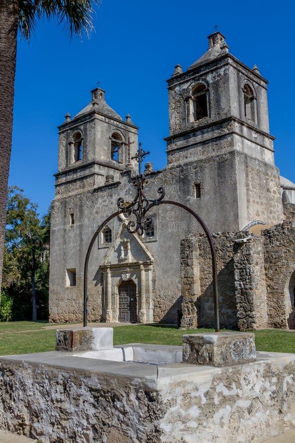 Missione spagnola Concepción, San Antonio, il Texas del parco nazionale immagine stock