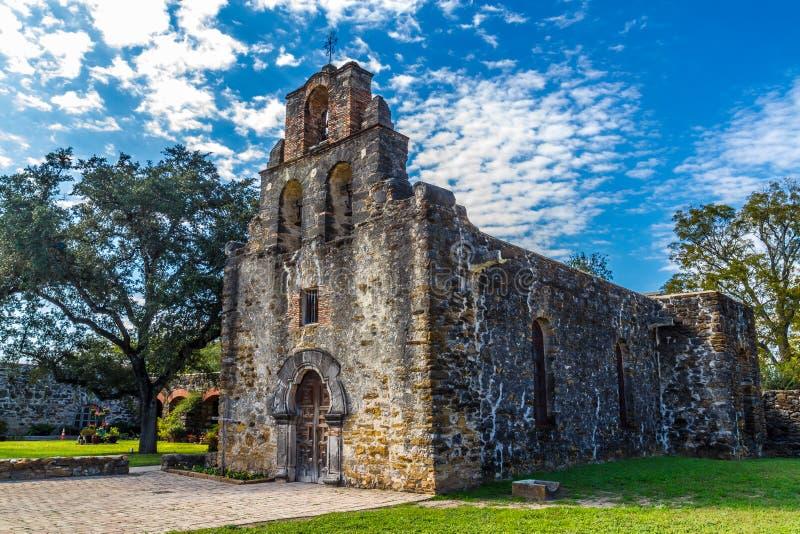 Missione spagnola di Espada, TX fotografia stock libera da diritti