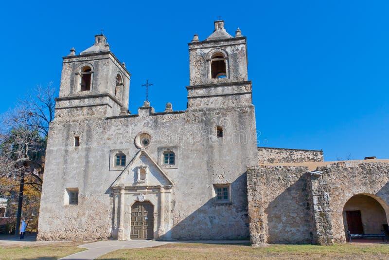 Missione storica Concepción a San Antonio, il Texas immagini stock libere da diritti