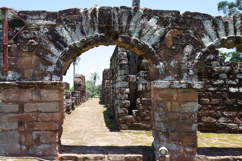 Missions de jésuite de La Santisima Trinidad de ParanÃ, Paraguay image stock