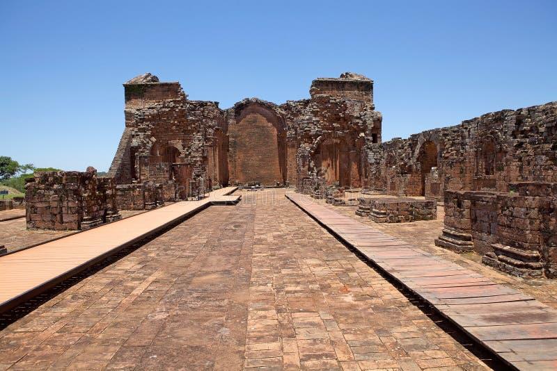 Missions de jésuite de La Santisima Trinidad de ParanÃ, Paraguay images libres de droits