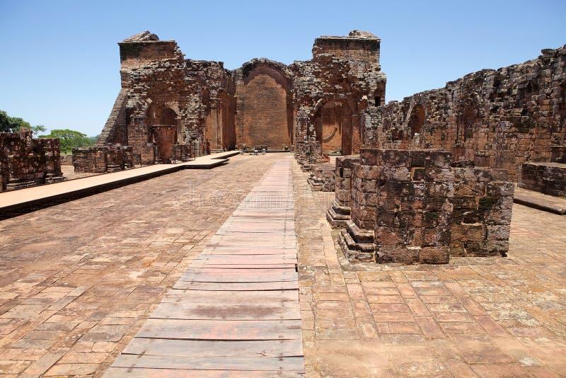 Missions de jésuite de La Santisima Trinidad de ParanÃ, Paraguay images stock