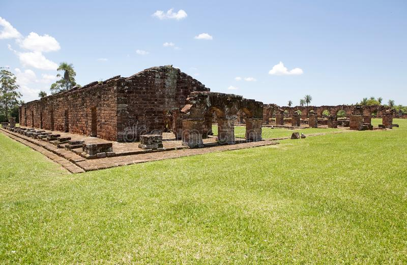 Missions de j?suite de La Santisima Trinidad de Paran?, Paraguay photo stock