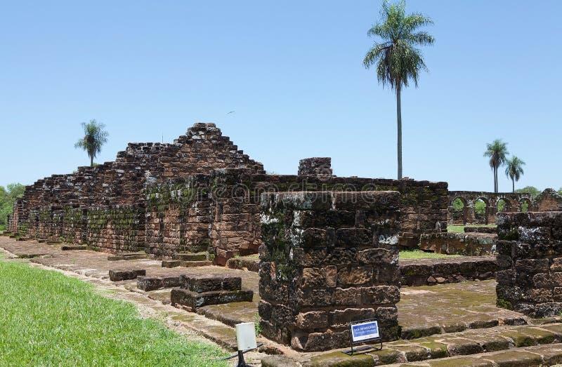 Missions de j?suite de La Santisima Trinidad de Paran?, Paraguay photographie stock libre de droits