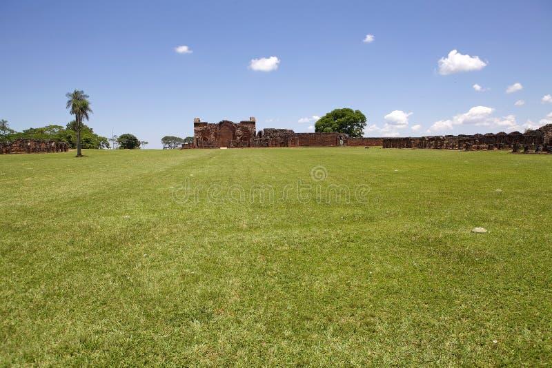 Missions de j?suite de La Santisima Trinidad de Paran?, Paraguay images stock