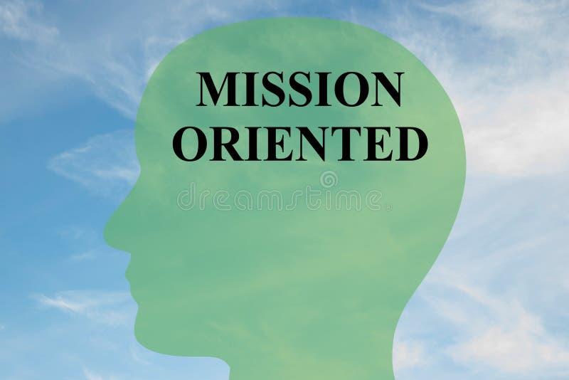 Missionsorientiertes Konzept lizenzfreie abbildung
