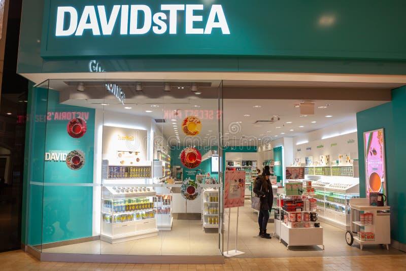 Mississauga, Kanada, am 14. Februar 2019: Das Einkaufszentrum des Quadrat-eins gelegen in Mississauga, Ontario, Kanada Das 3. grö lizenzfreie stockfotos