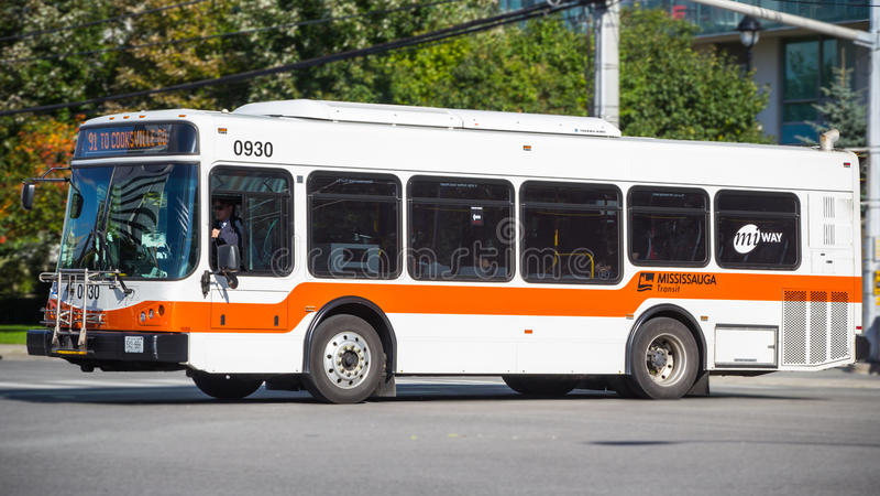 Mississauga-Stadt-Bus Miway stockfotografie