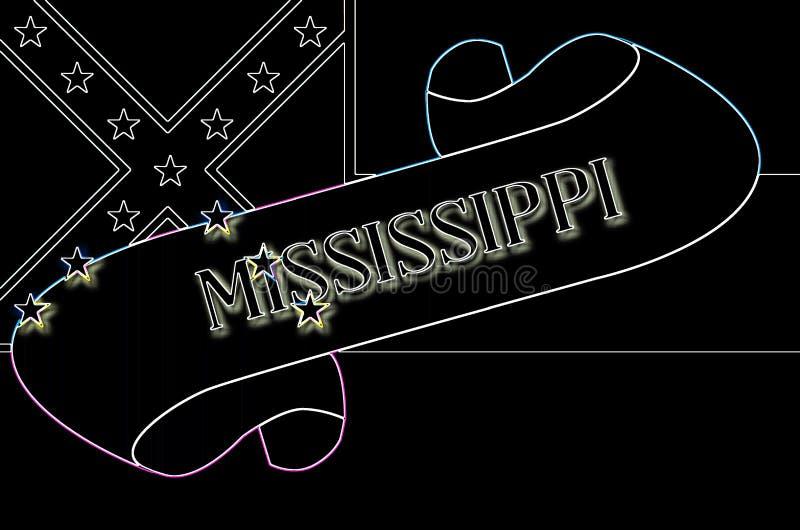 Mississippi ślimacznica ilustracja wektor