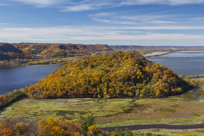 Mississippi River In Autumn royalty free stock images