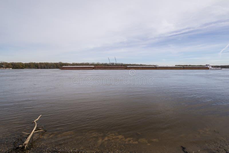 Mississippi river bardge stock photos