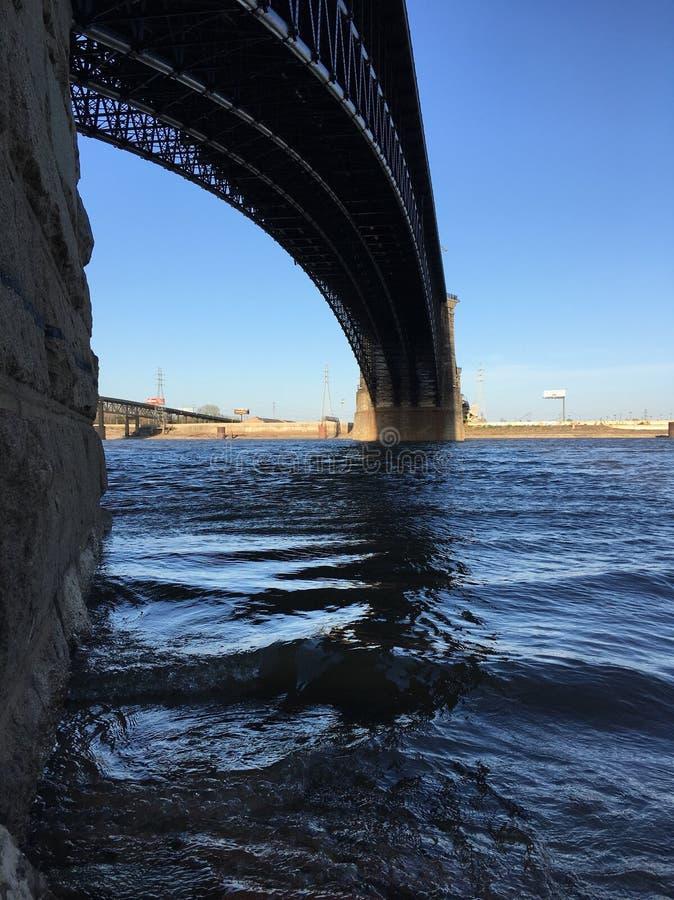 Mississippi River från St Louis Missouri arkivbild